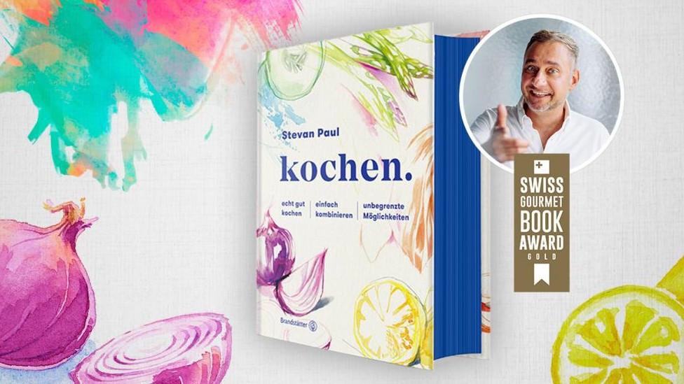 """Für Kochbuch-Autor Stevan Paul eine """"Riesenfreude"""", wie er sagt: Sein Werk """"kochen."""" erhält Gold bei den Swiss Gourmet Book Awards 2020. (Foto: ©Designed by Freepik; Digital Vision./DigitalVision/Getty Images; Andrea Thode)"""