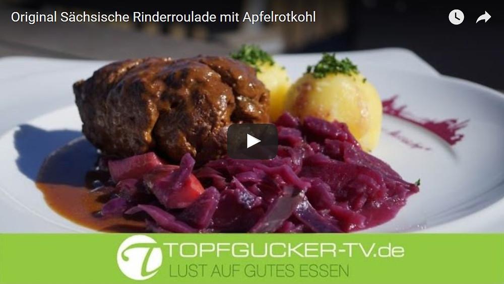 Original sächsische Rinderroulade mit Apfelrotkohl