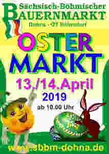 Sächsisch- Böhmischer Bauernmarkt zum 18. Röhrsdorfer Ostermarkt am 13. und 14.04.2019