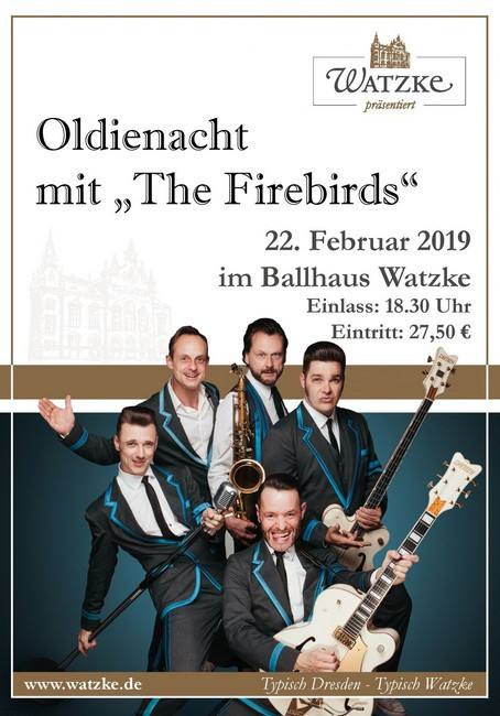 Oldienacht mit The Firebirds im Ballhaus Watzke