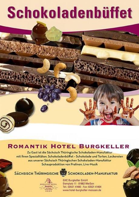 Was ist los in Dresden und Umgebung - Schokoladenbüffet im Hotel Burgkeller