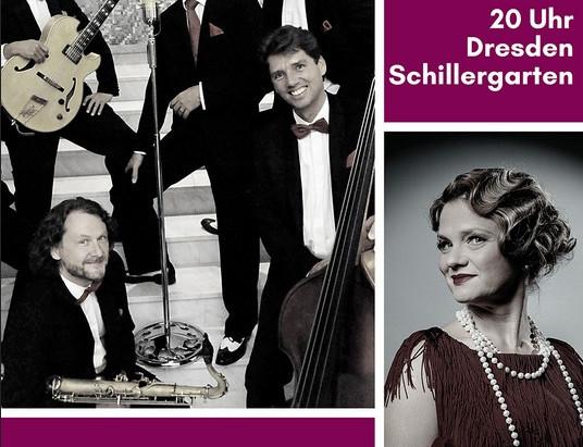 """Konzert mit  """"Kathy Leen und dem Dresdner Salonorchester"""" im Schillergarten"""