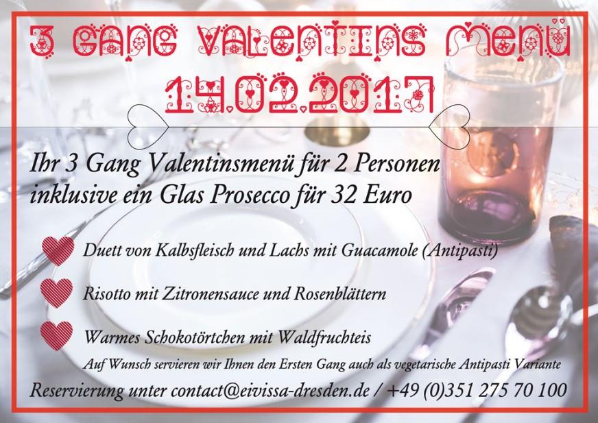 Lust auf Sachsen -Eivissa Valentinsmenü
