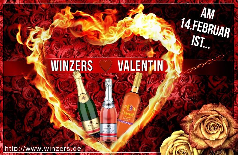 An den Tag der Liebenden am 14. Februar 2017 denken - © 2017 Winzers Weine e.K.