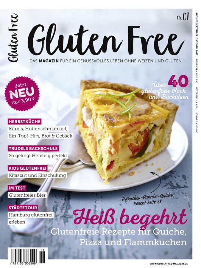 Titel Gluten Free Magazin Ausgabe Nr. 1 - © 2017 frei & fein Verlag / Alexandra Herr und Christian Herr GbR