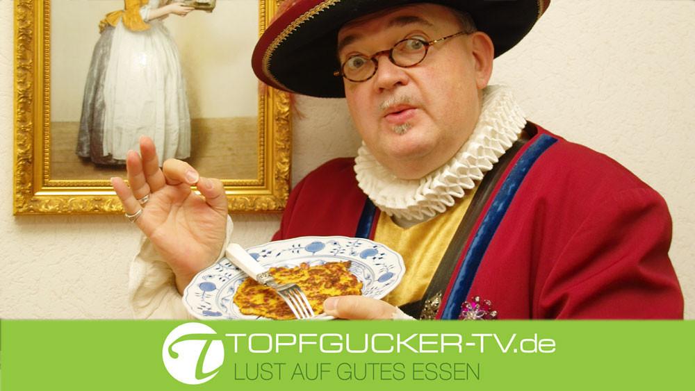 Lust auf Sachsen - Sächsische Kartoffelpuffer mit Schinkenwürfel