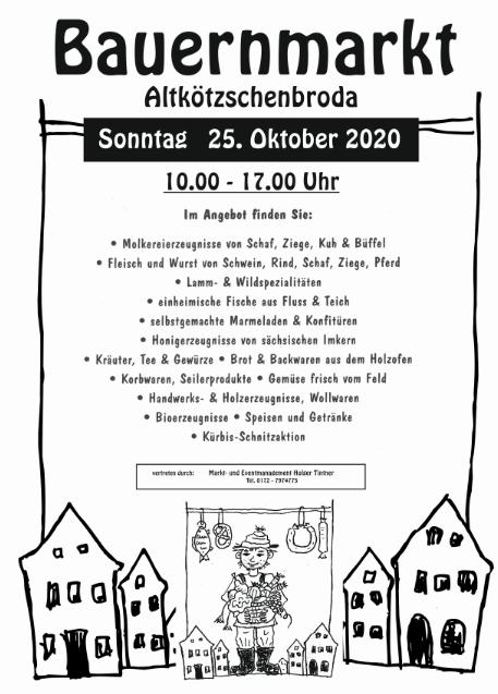 Wohin in Dresden und Umgebung - Traditioneller Herbst-Bauernmarkt in Altkötzschenbroda am 27.10.2019