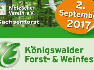 Königswalder Forst- & Weinfest am 2. September 2017