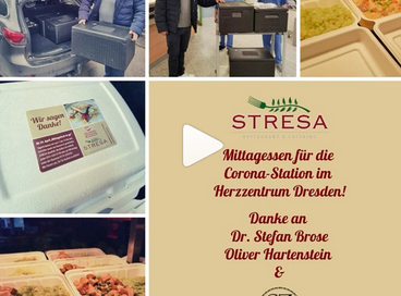 MITTAGESSEN FÜR DIE CORONA-STATION IM HERZZENTRUM DRESDEN❤️