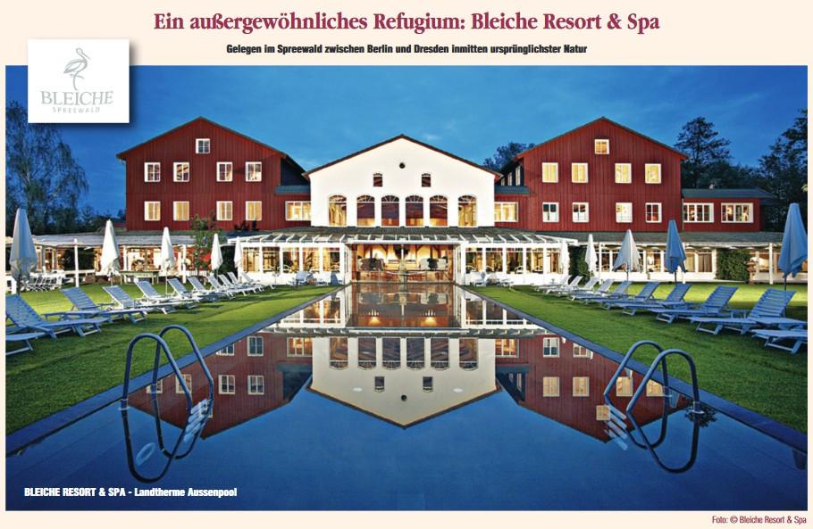 Ein außergewöhnliches Refugium Foto: Bleiche Resort & Spa