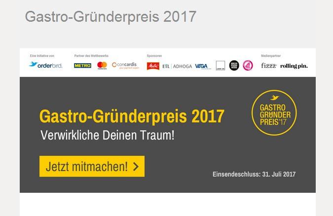 Gastro-Gründerpreis 2017