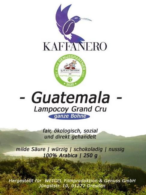 Lampocoy Grand Cru aus Guatemala - ein Kaffee der gleich zweimal hilft!