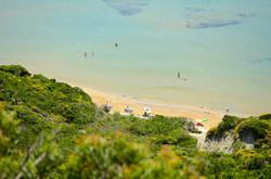 Arillas Beach from clifftop