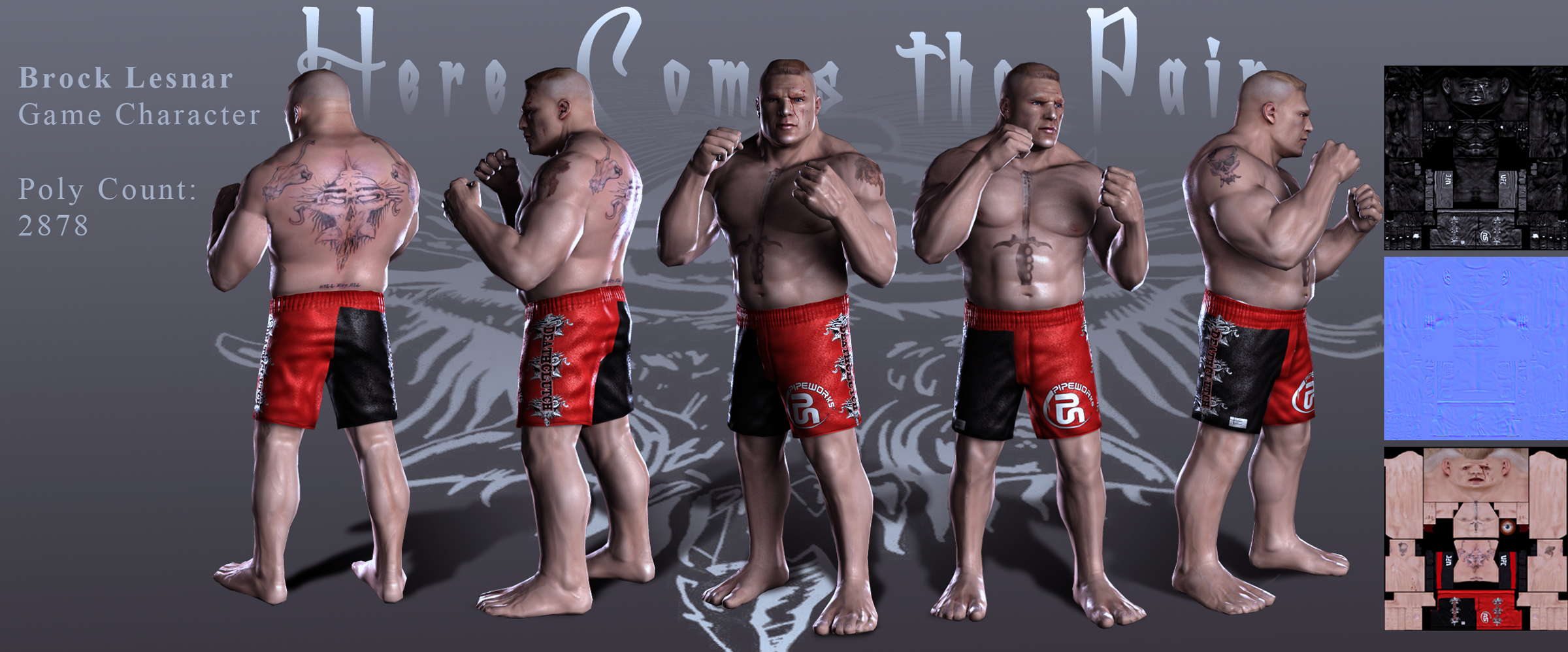 Brock Lesnar Game Model