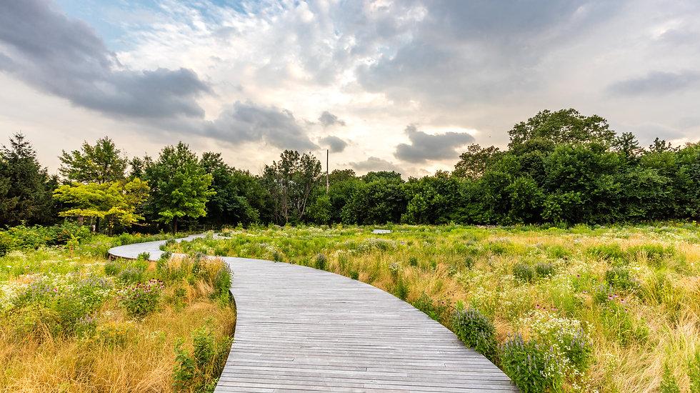 Studio Zhan Brooklyn Navy Landscape boardwalk