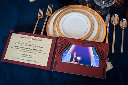 gold foil video invitation