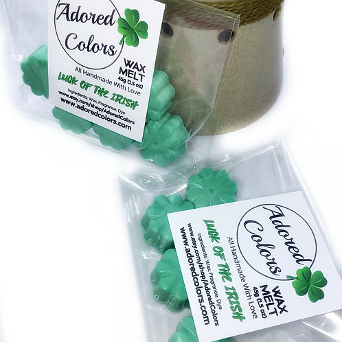 Luck Of the Irish Shamrock Shaped  Beer Scented Soy Wax