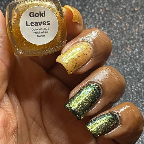 Gold Leaves (October 2021 Polish of the Month)