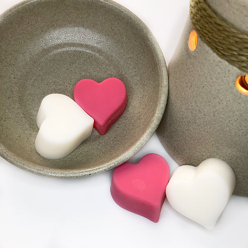 Love Potion Heart Shaped Peach Scent Soy Wax Melts