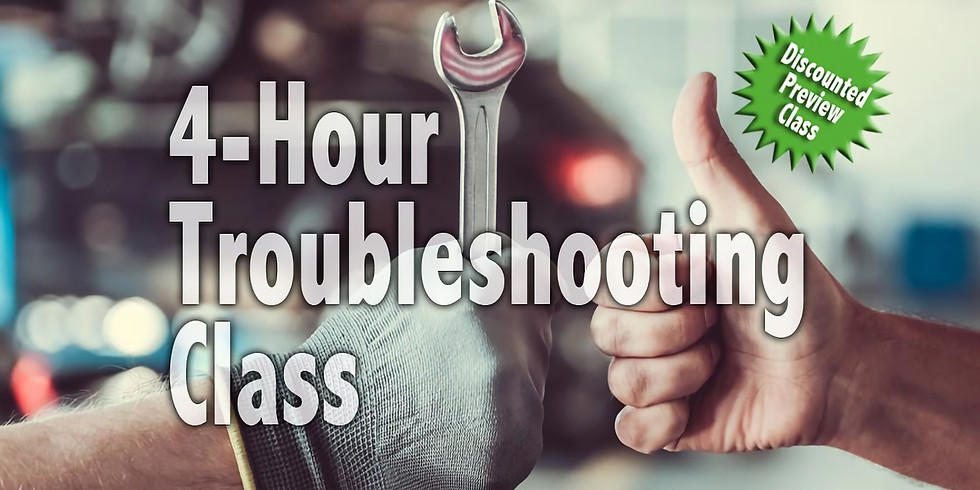 Troubleshooting Class | 12-4 pm | 4/13/19