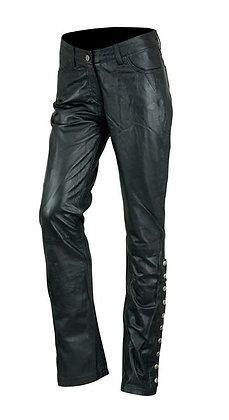 Женские кожаные брюки L 506