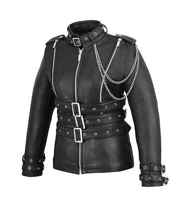 Женская кожаная куртка  L 116