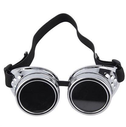 очки 'гогглы' цвет-сталь