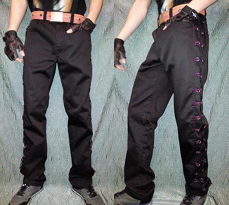 "брюки 'люверсы-черный шнур"""