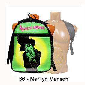 рюкзак = Marilyn Manson