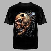 футболка-Череп в паутине