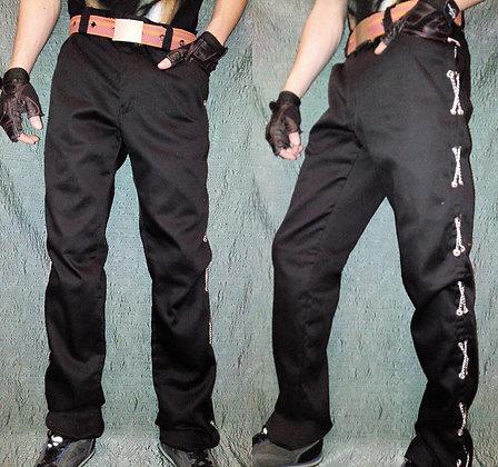 брюки с люверсами+цепи