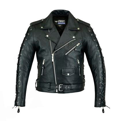 Мужская кожная куртка M 772