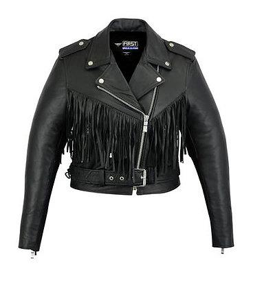 Женская кожаная куртка  L 115 FR