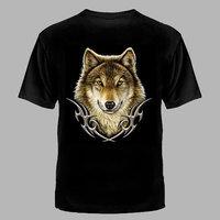 футболка волк-в тату узоре