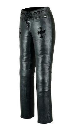 Женские кожаные брюки L 505