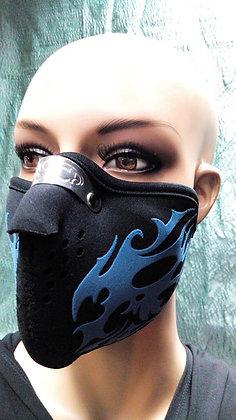 Маска-пыльник синий узор