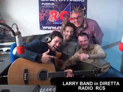 LARRY in DIRETTA su Radio RCS