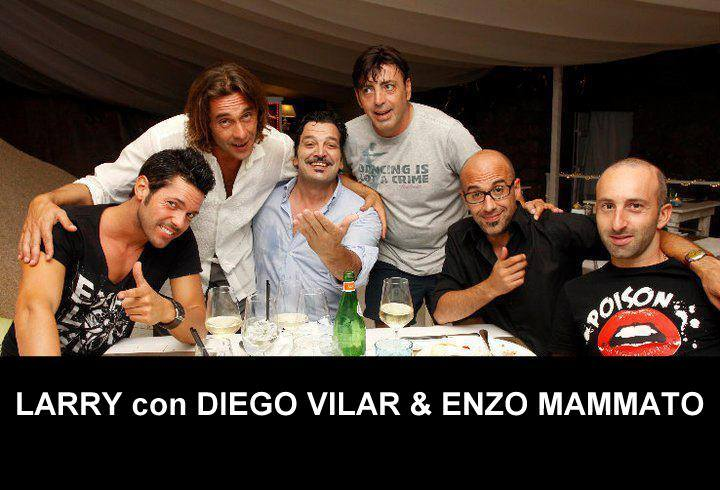 LARRY con DIEGO VILAR & ENZO MAMMATO