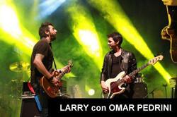 LARRY con OMAR PEDRINI