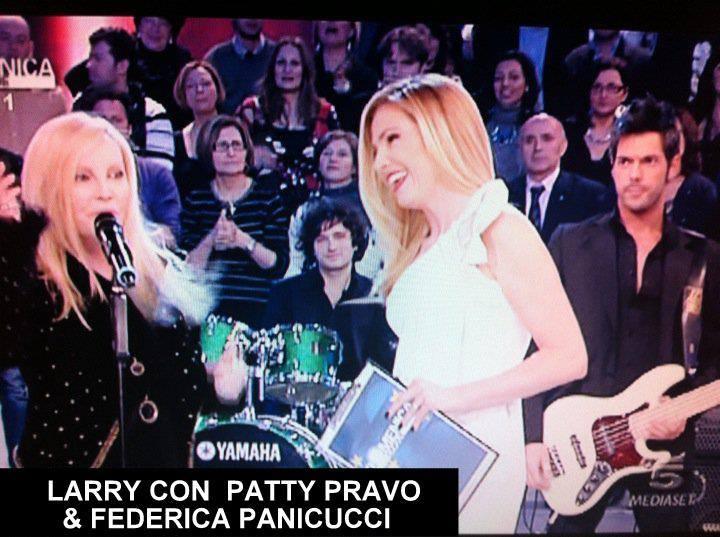 LARRY con PATTY PRAVO & FEDERICA PANICUCCI