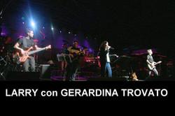 LARRY con GERARDINA TROVATO