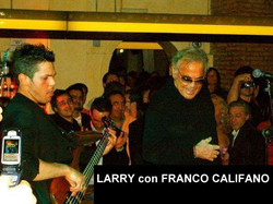 LARRY con FRANCO CALIFANO
