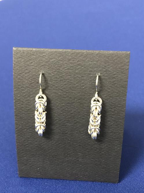 Earrings - Byzantine weave, Silver