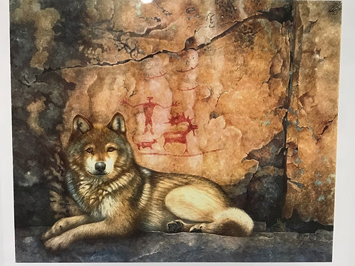 Wolf and Pictographs