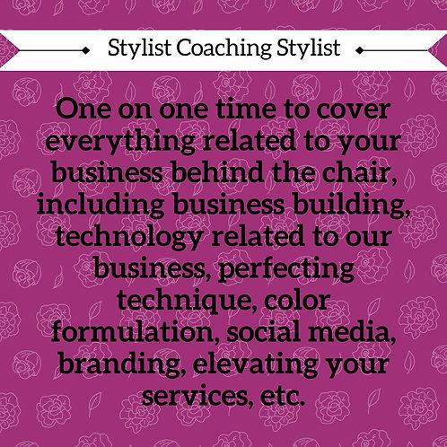 Stylist Coaching Stylists $150/hour