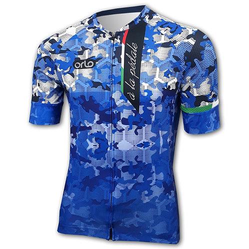 Camisa Camuflada Azul Royal Gran Competizione