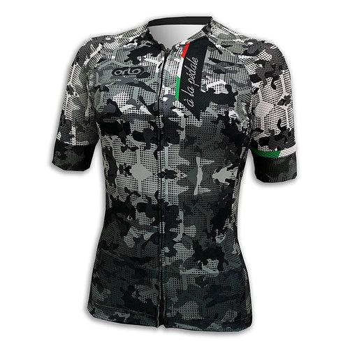 Camisa Camuflada Preto e Branco Gran Competizione