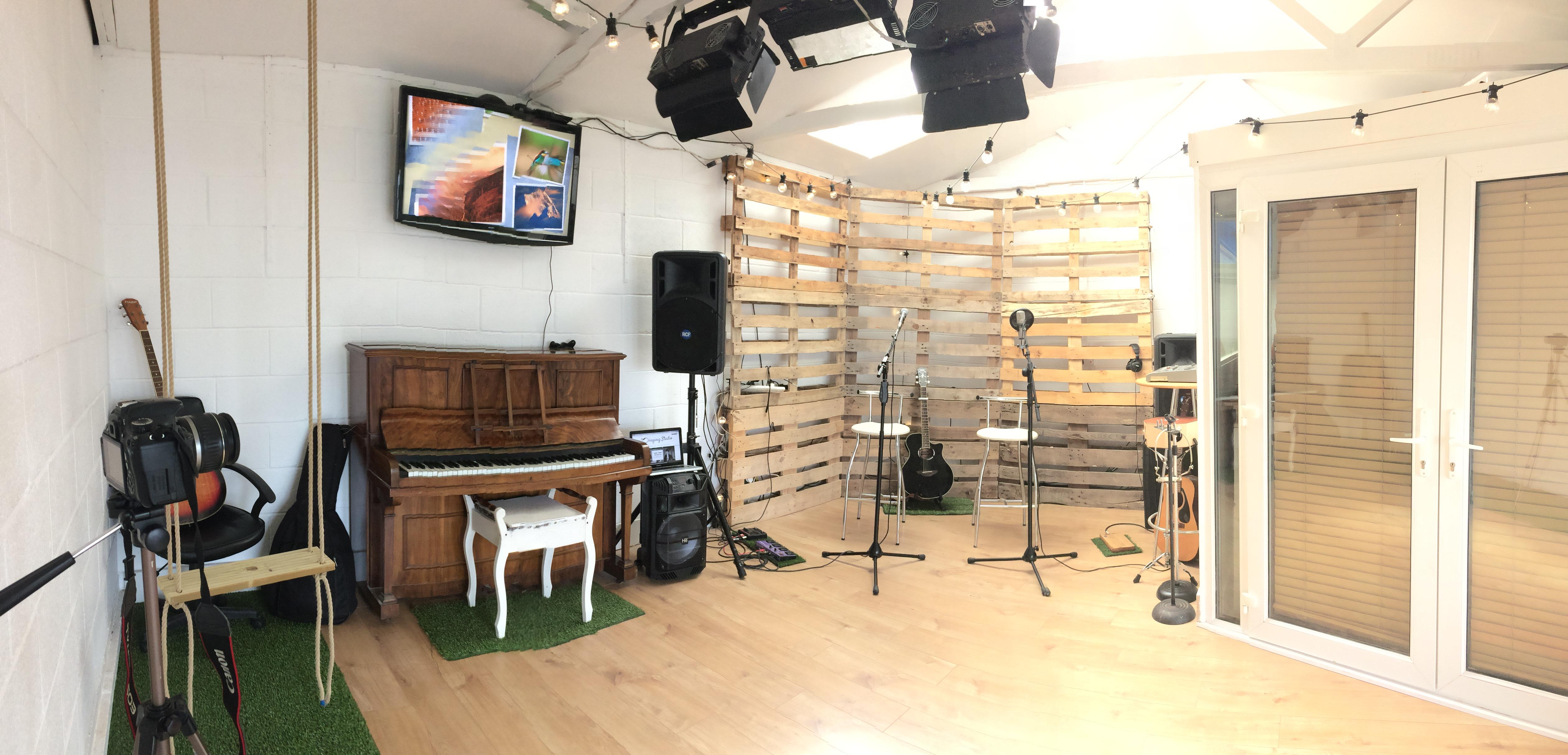 The singing studio