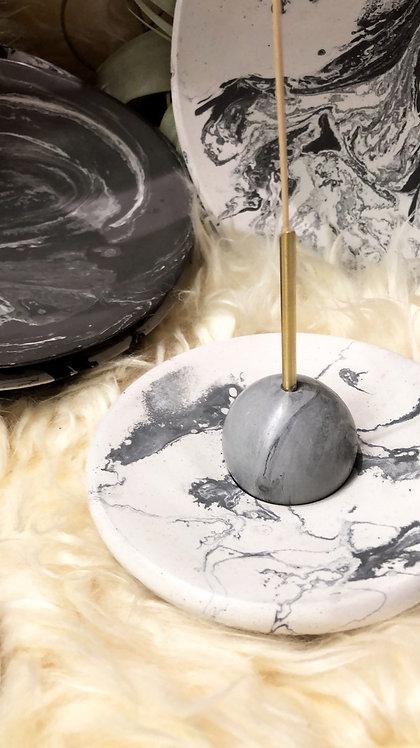 Concrete Sphere Incense Holder