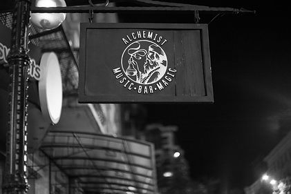 Alchemist Bar sign